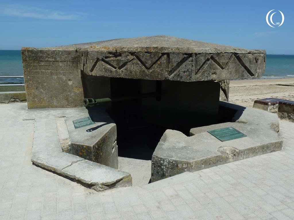 View of the bunker from the boardwalk - Saint-Aubin-sur-Mer, Normandy, France