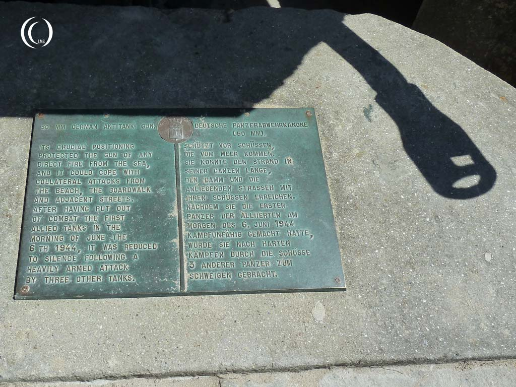 Memorial plaque describing the events on June 6th 1944 - Saint-Aubin-sur-Mer, Normandy, France