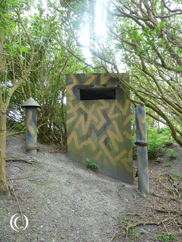 Chimney and ventilation pipes of casemate XVII  - Kornwerderzand, the Netherlands