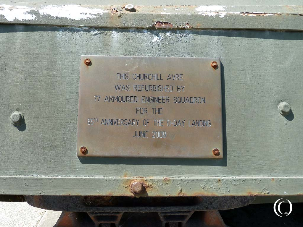 Plaque on the right mudguard
