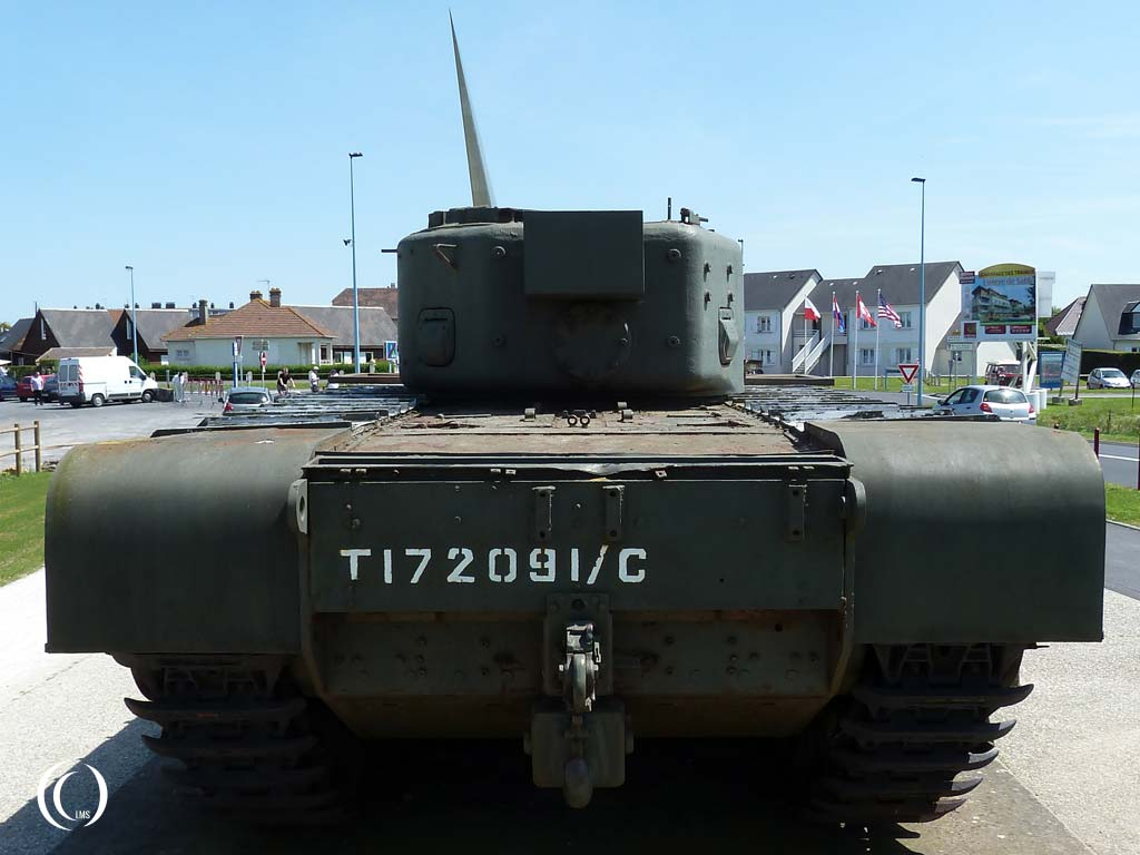 Back of the Churchill AVRE Mk. IV tank - Lion-sur-Mer, Normandy, France