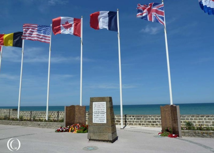 D-day, Juno Beach: monument landing of 3rd Canadian Infantry Division and 48th Royal Marine Commando's – Saint-Aubin-sur-Mer, France