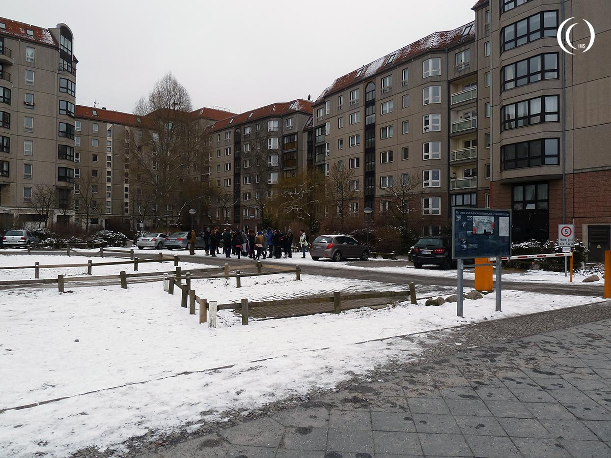 Location where the Fuhrerbunker used to be under the Reich Chancellery, Wilhelmstrasse Berlin