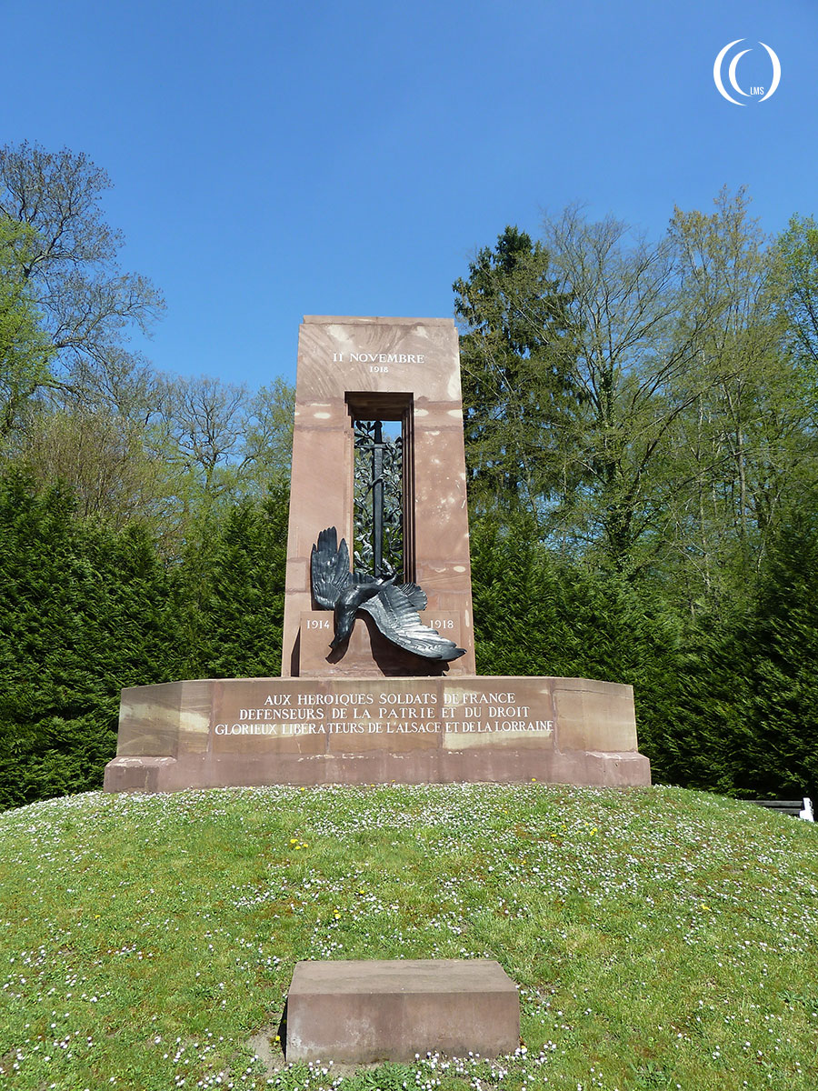 The restored Alsace-Lorraine Monument at the entrance of the museum grounds