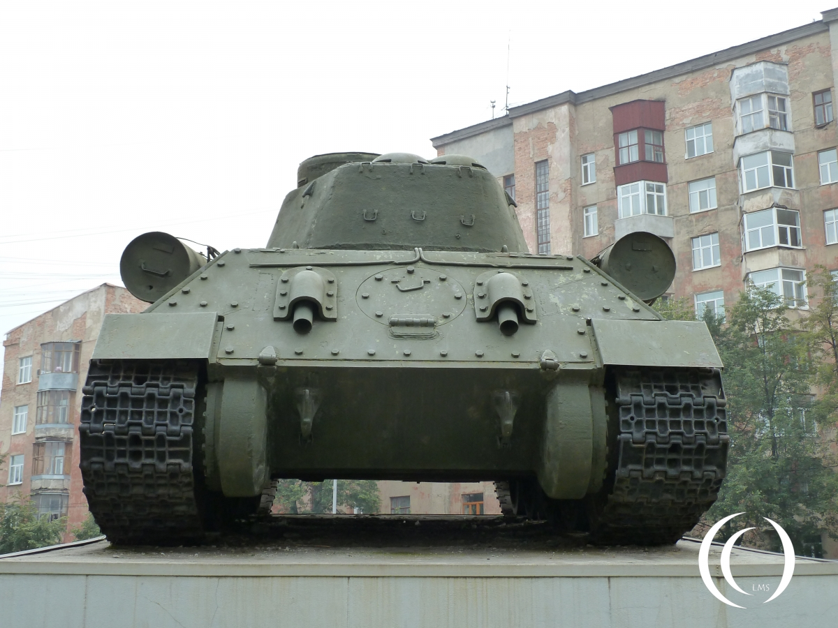 Back of the T34-85 Yekaterinburg Russia