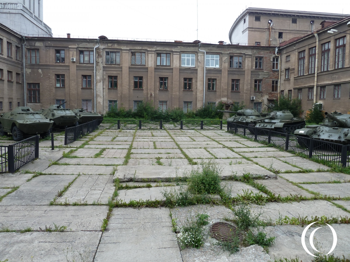 On the courtyard of the Military Historical Museum of the Volga - Ural