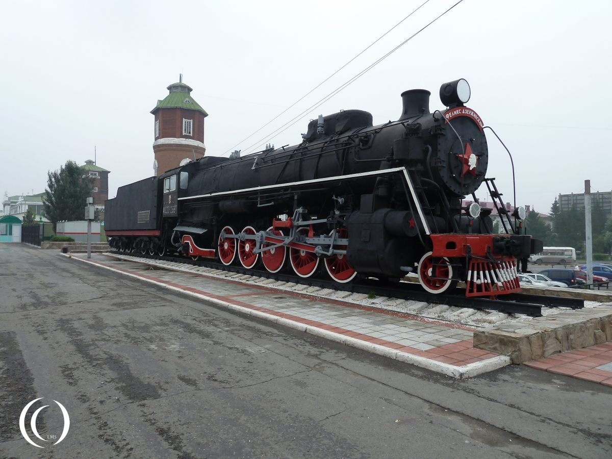 Russian locomotive class FD20 with water tower