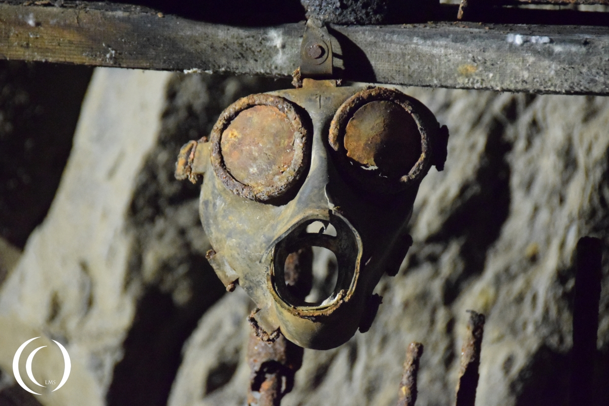 Gasmask in Project Riese complex Osowka