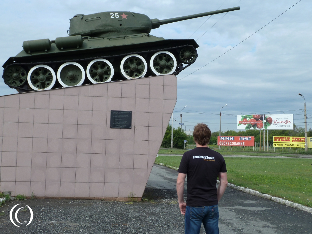 T34-85 Kurgan with LandmarkScout in Russia