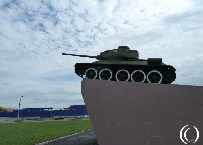 T34-85 on display in Kurgan, Oblast Kurgan – Siberia Russia