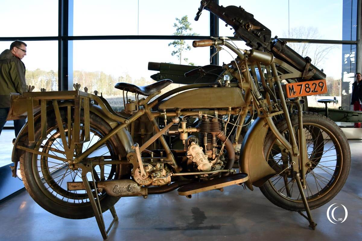 Eysink Motorcycle with Schwarzlose machine gun