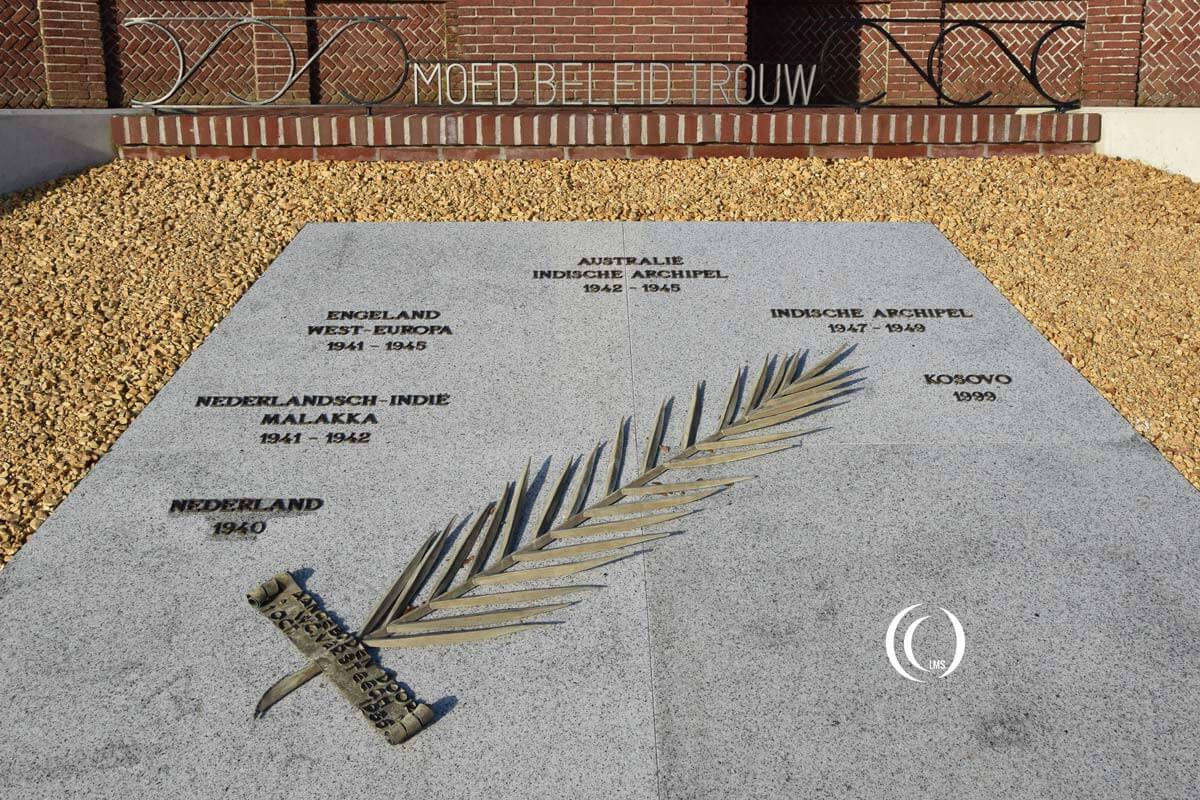 Memorial stone with the RNLAF service record