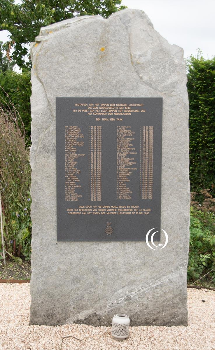 WWII victims fallen in May 1940 during the invasion of the Netherlands Memorial Garden RNLAF Soesterberg