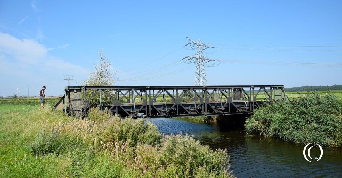 Bailey Bridge along Hoeksebaan Hook of Holland
