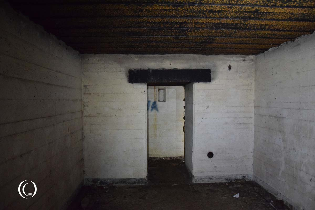View inside storage room of Type 134