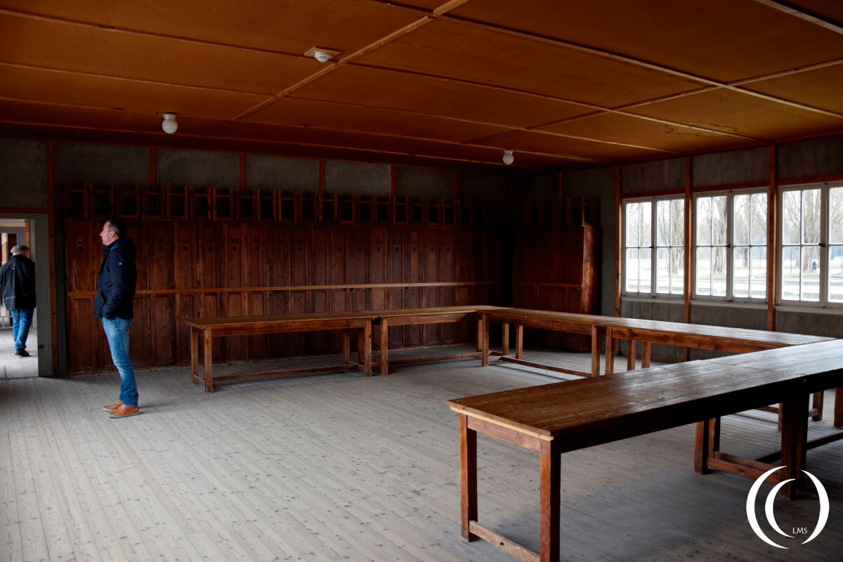 Living quarters in a Dachau Barrack