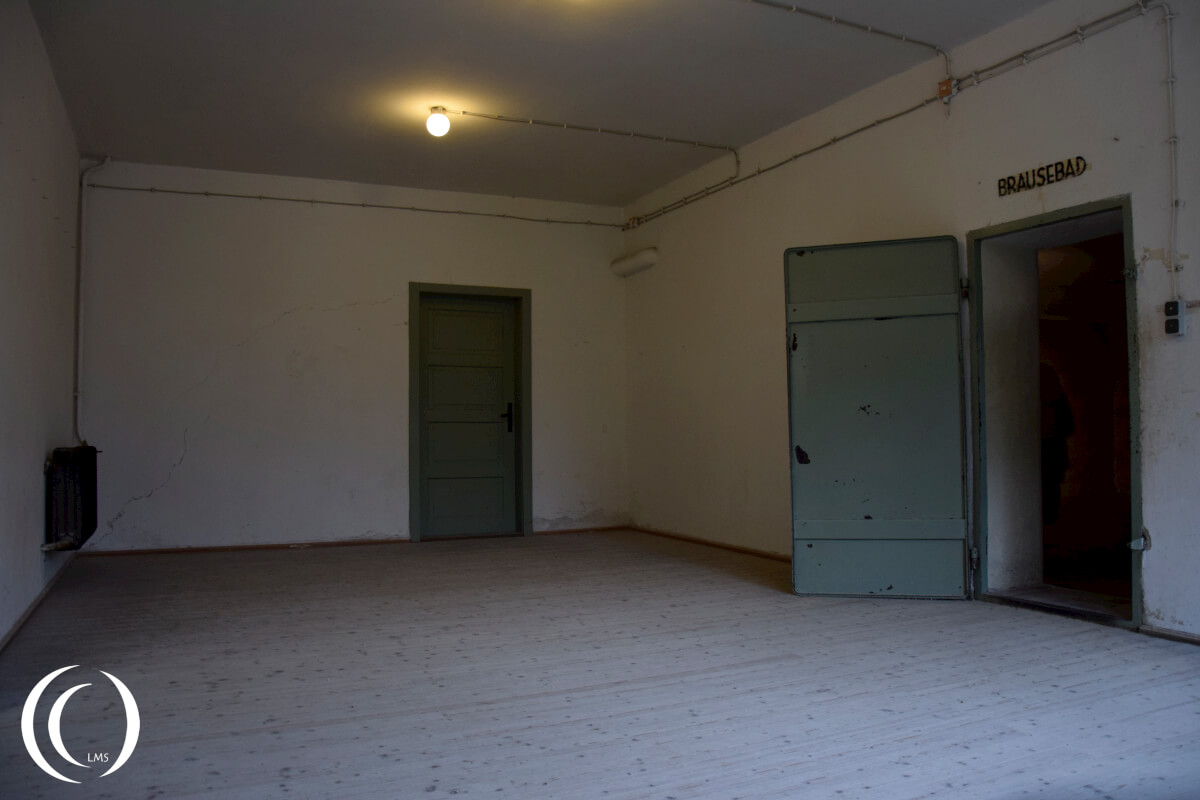 The dressing room of the Dachau Crematorium