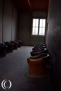 Toilet room in a barrack