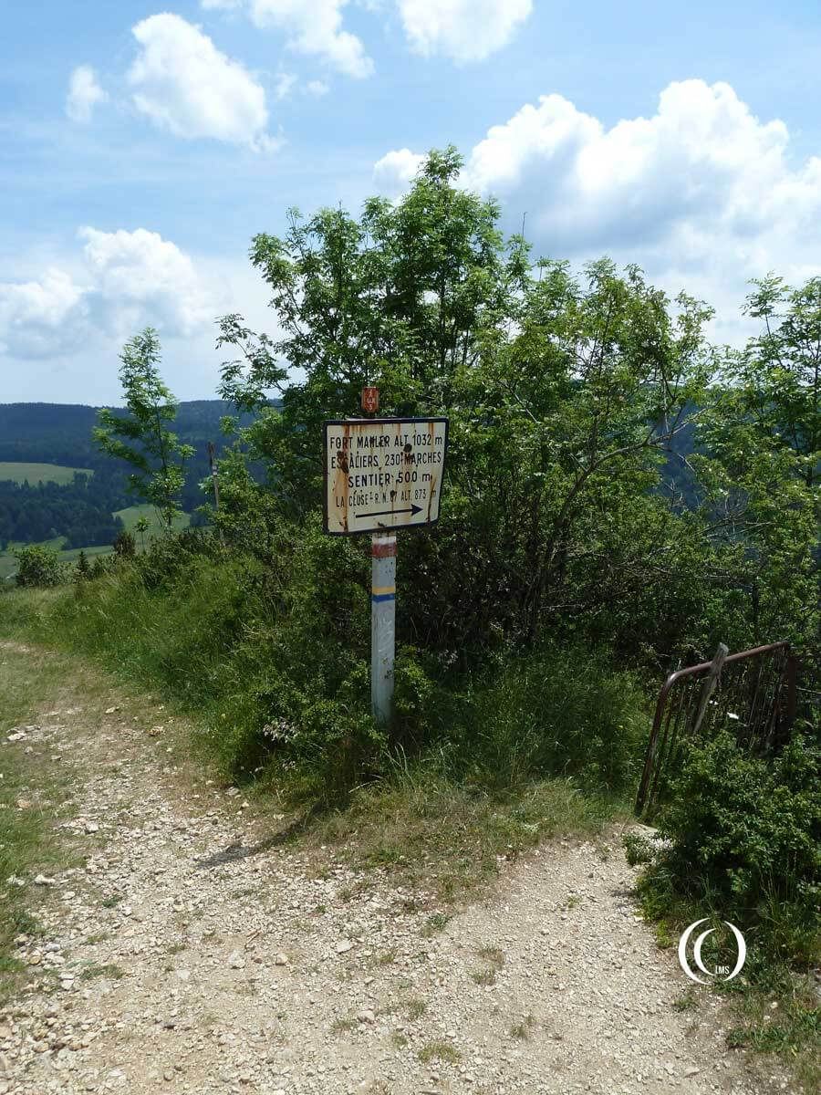 End of the walking trail to Fort Mahler France