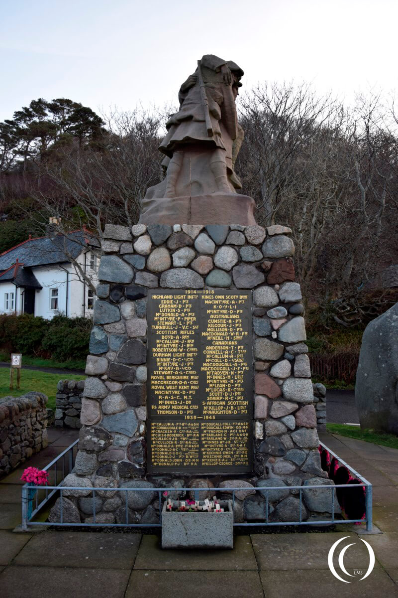 Oban war memorial unveiled on 11th November 1923