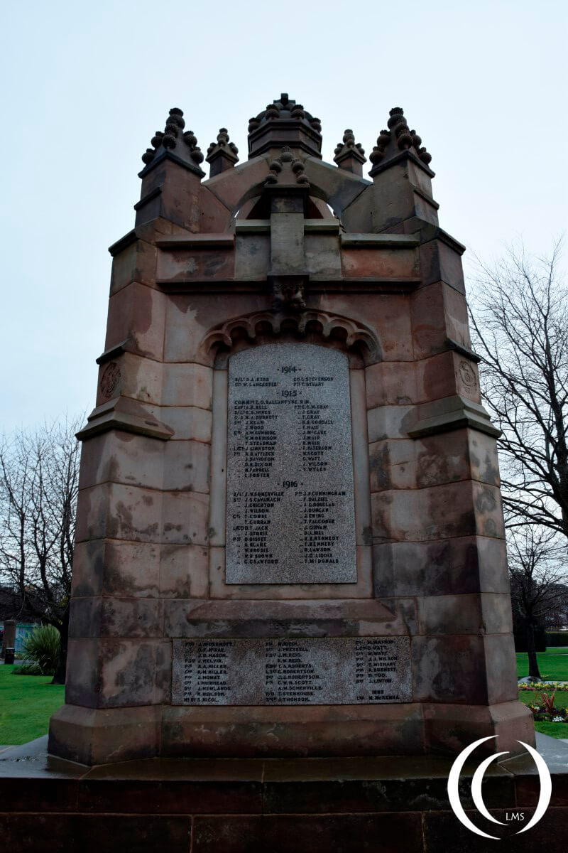 War memorial Dalkeith World War One and World War Two victims