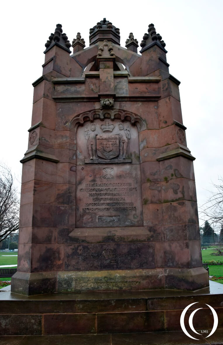 War memorial Dalkeith with inscription