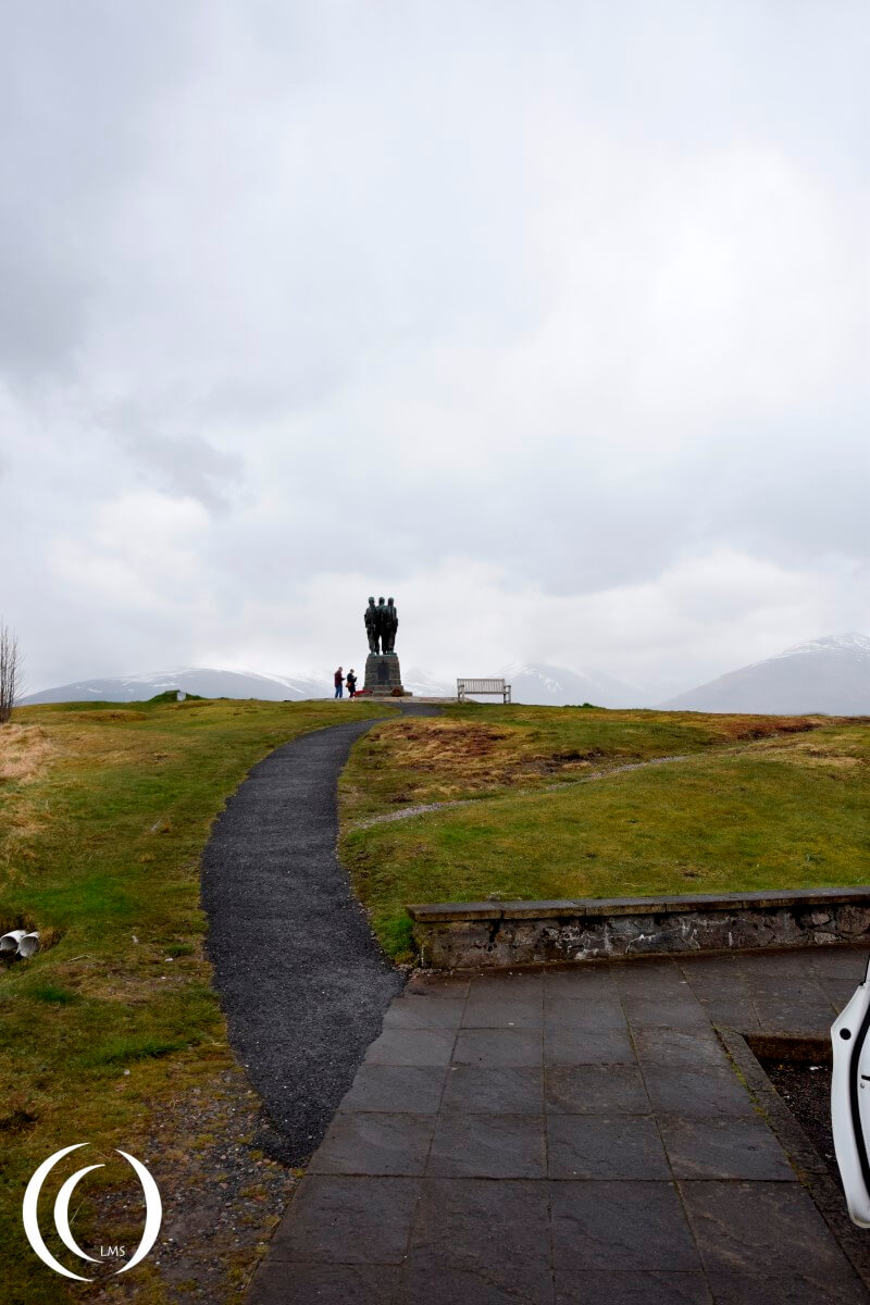 Commando Memorial next to the A82