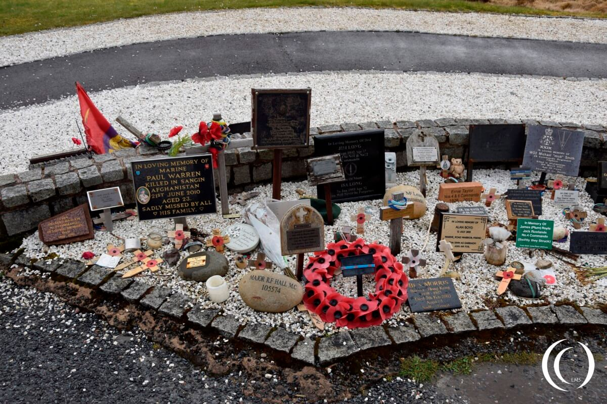 Commando Memorial Area of Remembrance - Spean Bridge, Lochaber