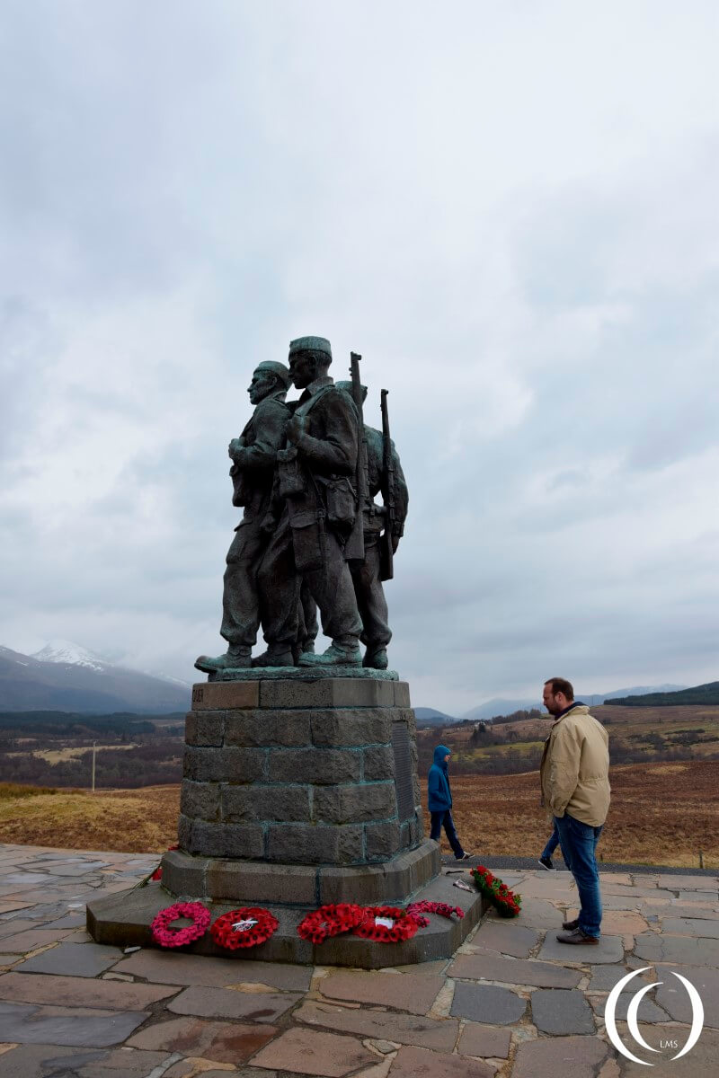 Commando Memorial together with my travel companions