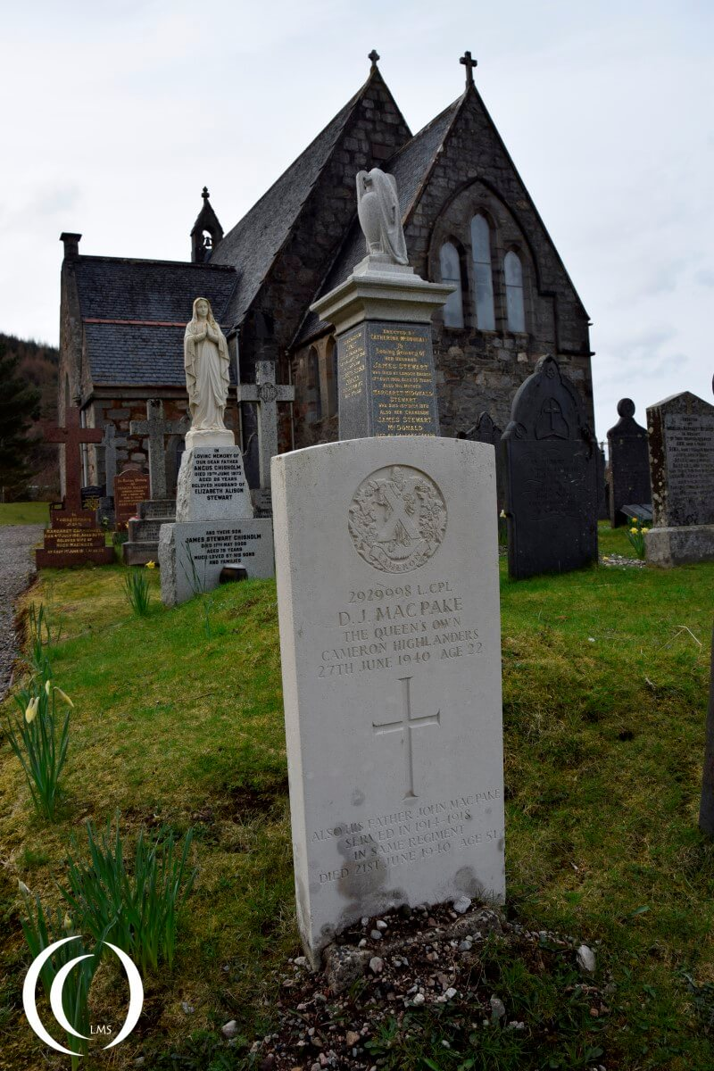 Commonwealth War Grave from the Second World War - Glencoe