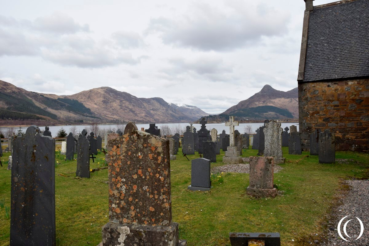Commonwealth War Graves Glencoe, View from the cemetery