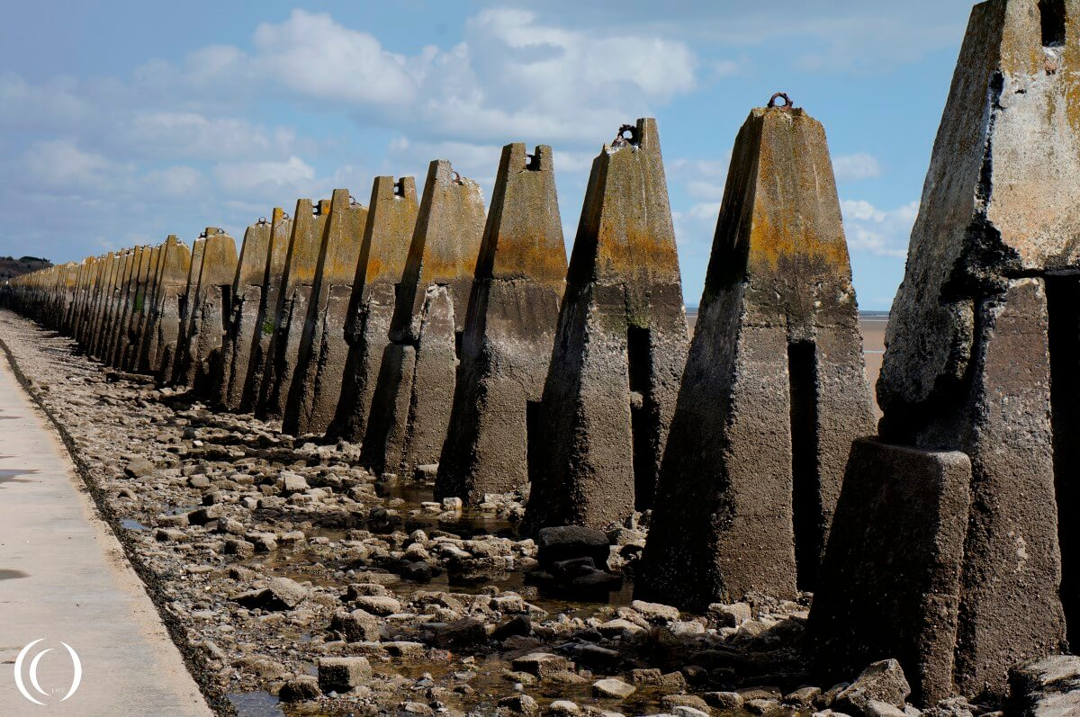 Concrete Pylons at Cramond Island