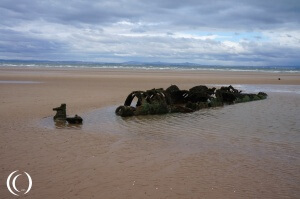X-Class Midget Submarine, Aberlady Beach East Lothian Scotland