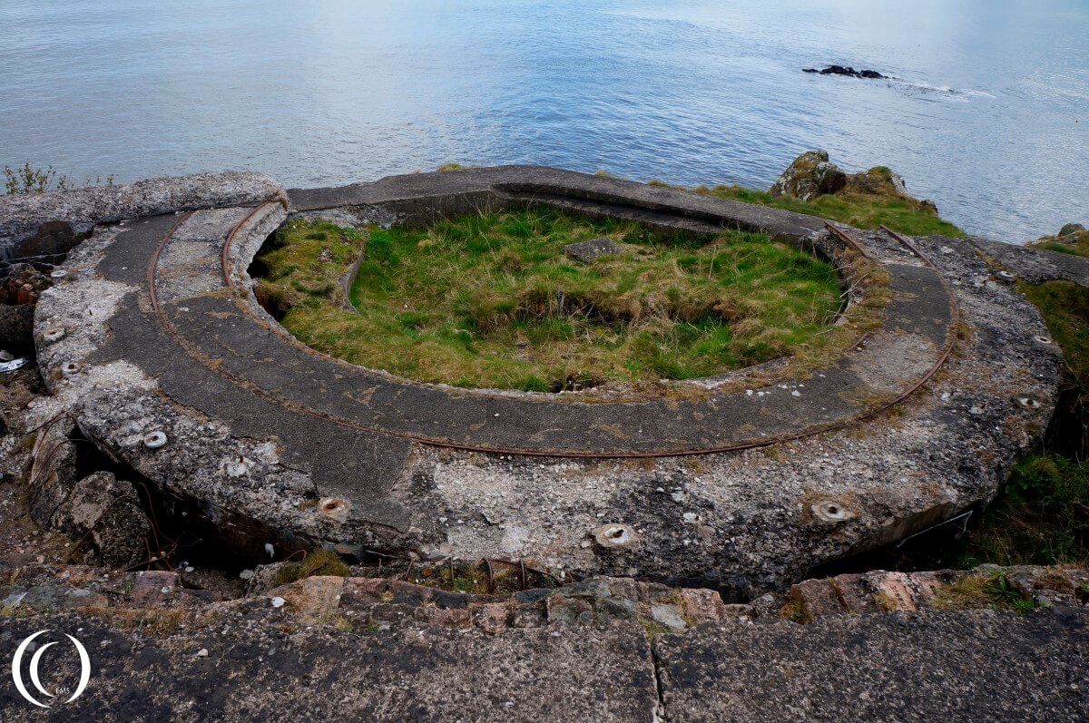 Gun emplacement at the northern end of Cramond Island
