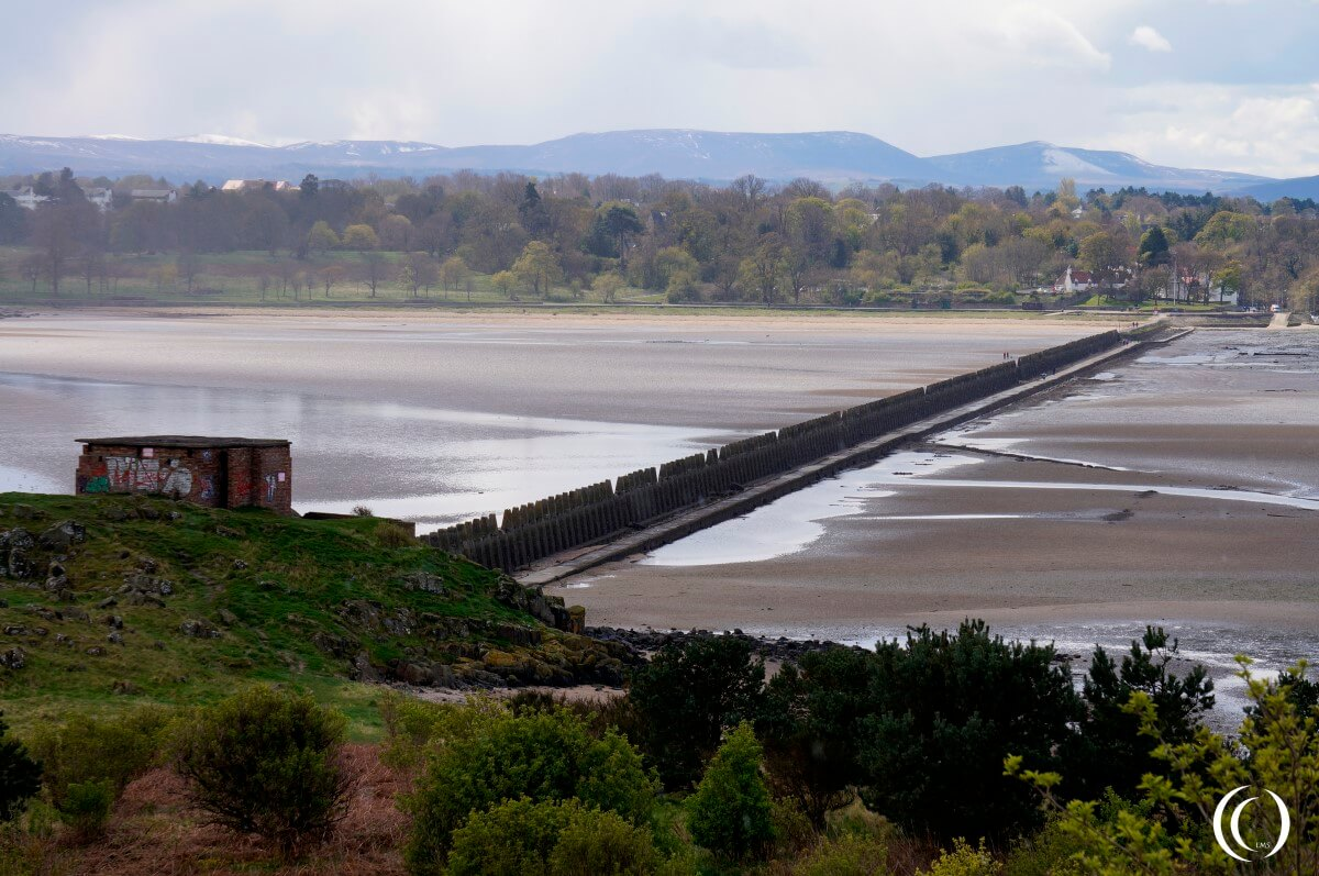 Submarine defence seen from Cramond Island