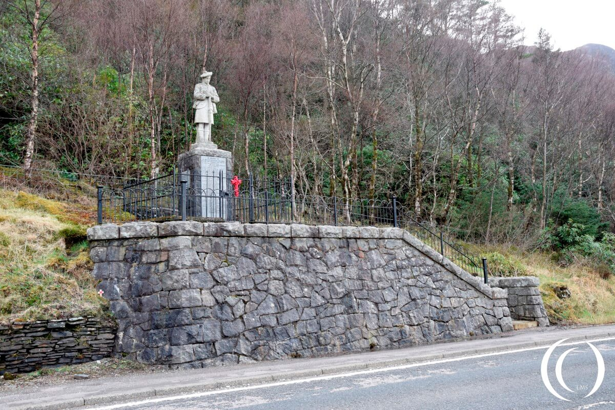World War One memorial Glencoe View from the road