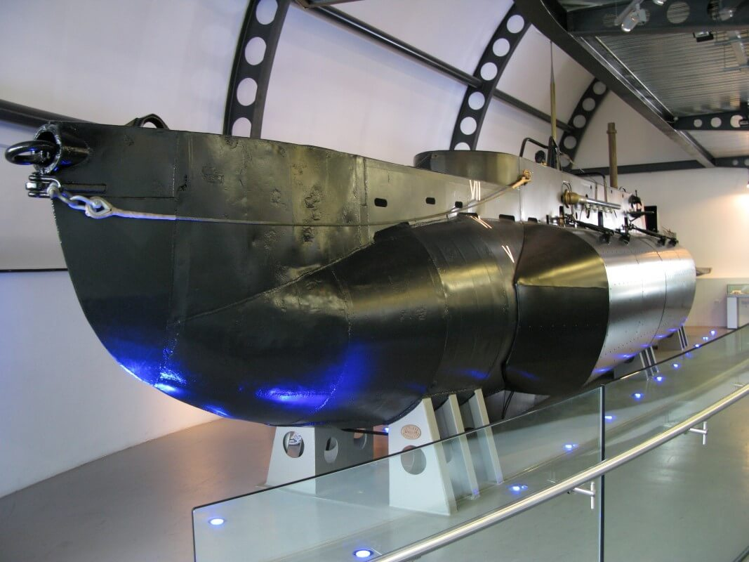 X24 in the Royal Navy Submarine Museum, Courtesy of Wikipedia by Geni
