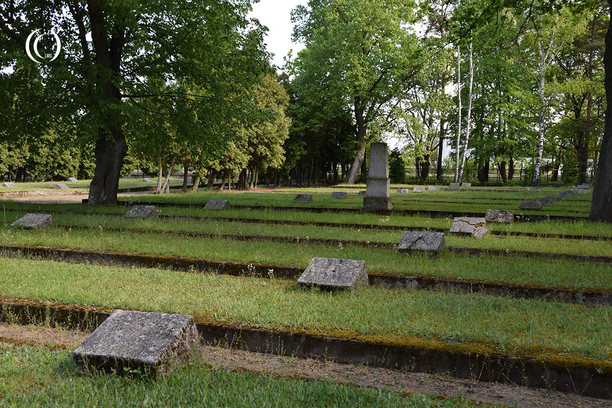 Overview of the cemetery at Zagan Poland