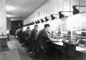 Telecomunications operators at work in the Zeppelin Bunker in 1942