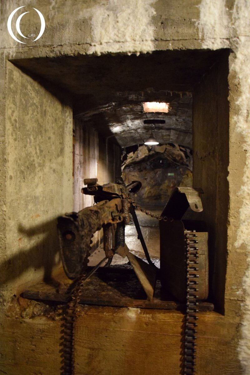 Tunnel Complex Rzeczka, entrance protection from an MG42