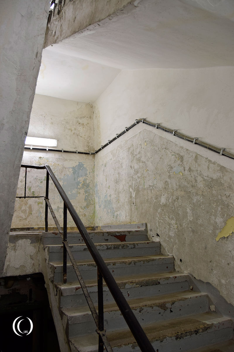 Staircase leading down to the Zeppelin bunker