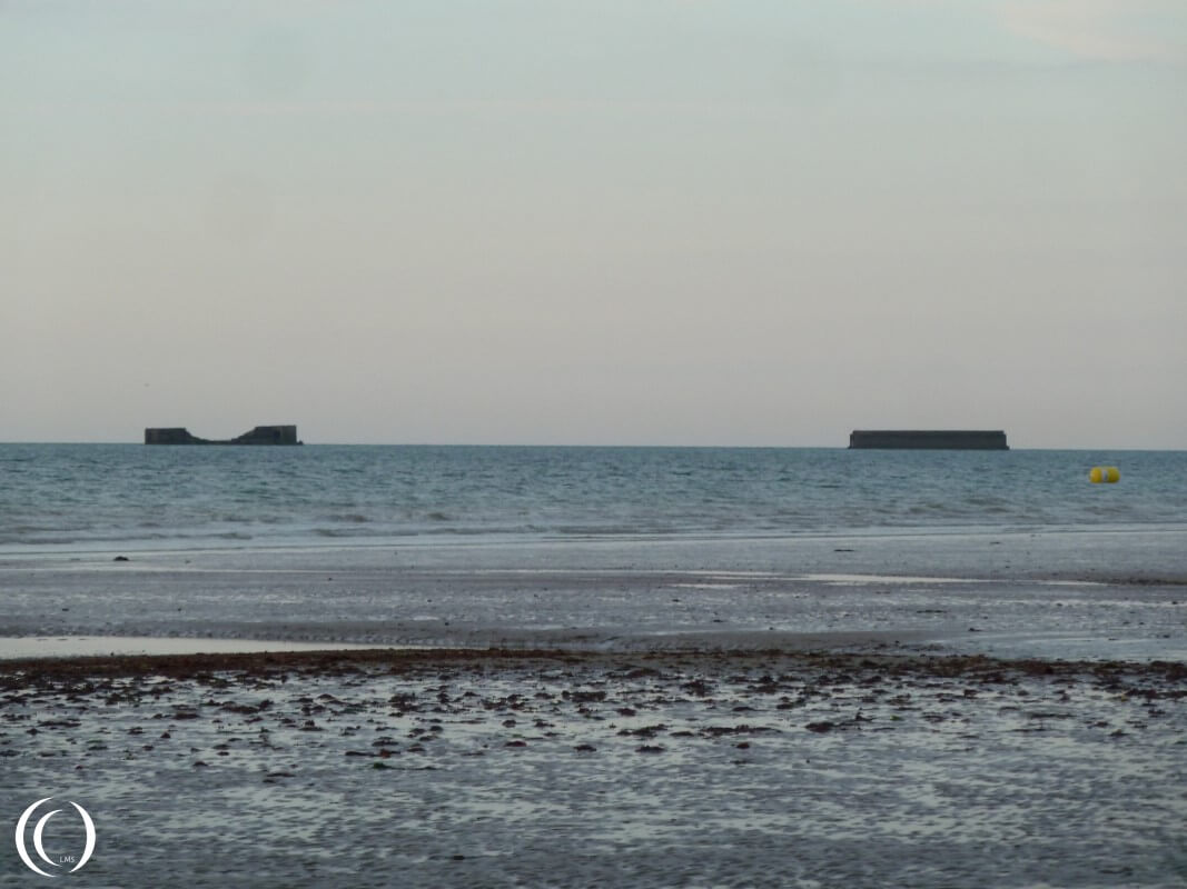 Phoenix Caissons at sea, Mulberry Harbour - Arromanche