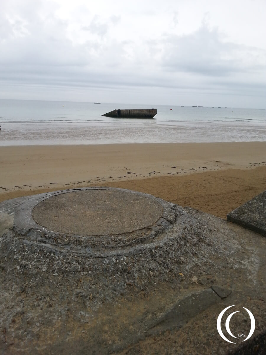 Tobruk at Arromanche, Pontoon and Phoenix Caissons in the back