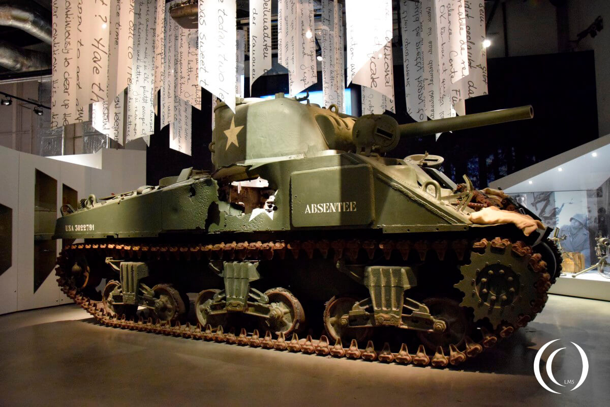 Bastogne War Museum - Damaged Sherman