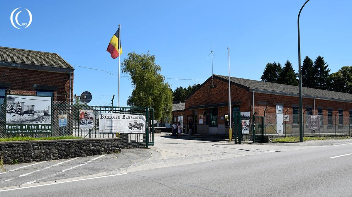 The Bastogne Barracks entrance