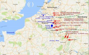 Battle of the Bulge Map LandmarkScout