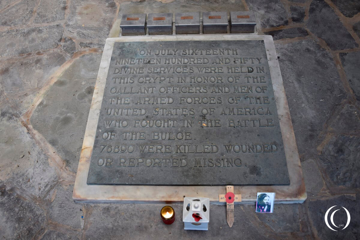 Mardasson Memorial - Text inside the Crypt