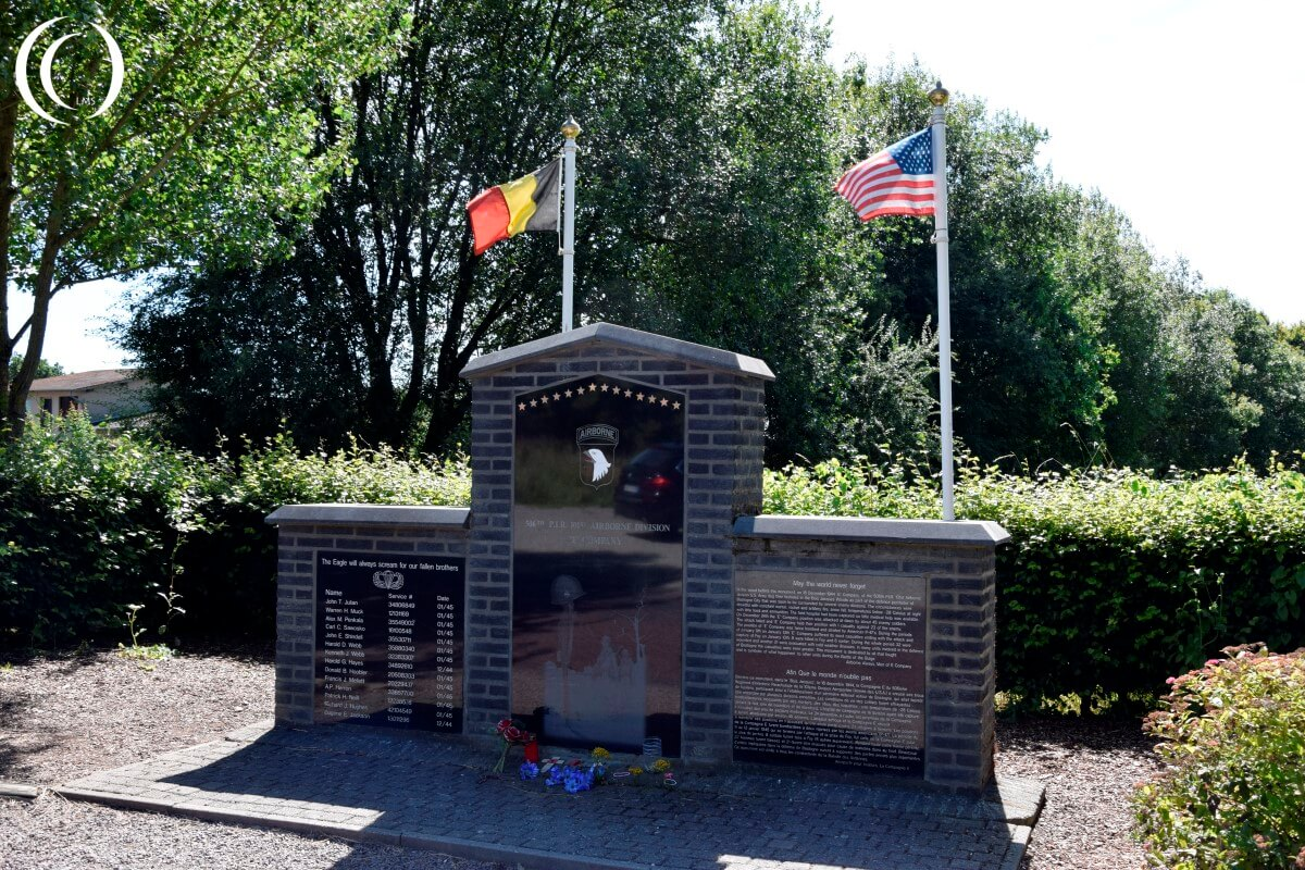 Monument for Easy Company near Bastogne