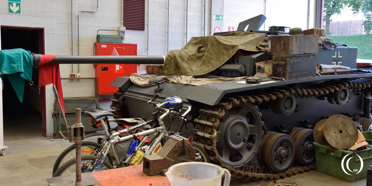 Stug III ausf. F under surgery at Bastogne Barracks