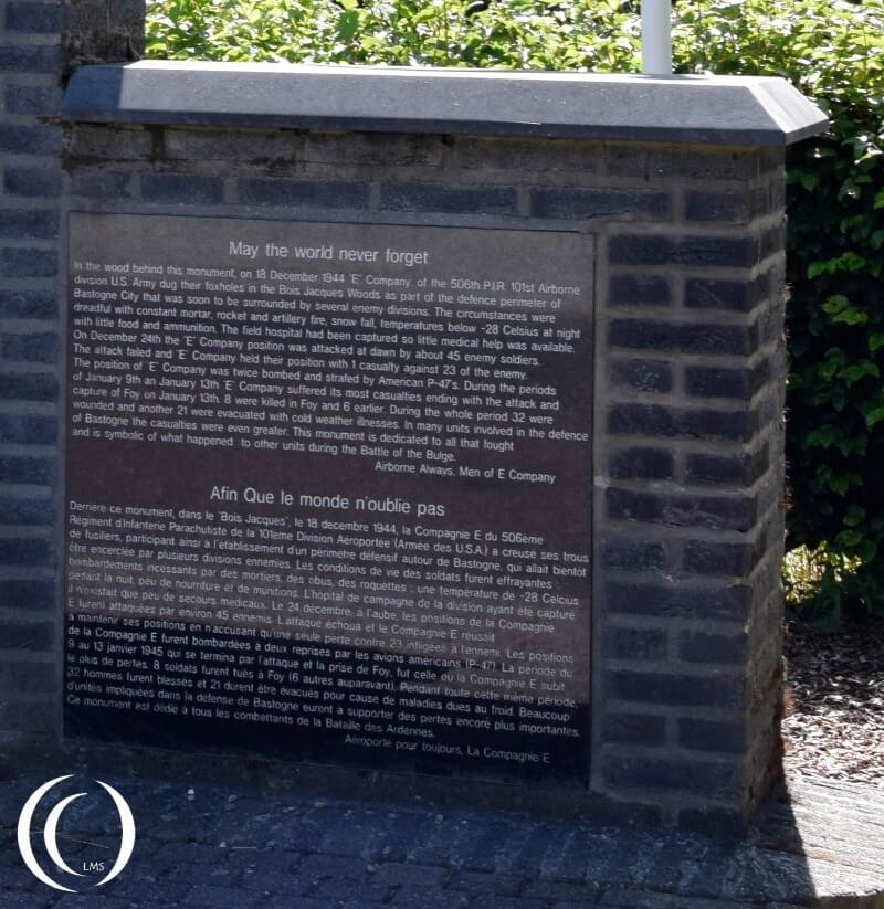 Monument for Easy Company - Jack's Forrest - Foy